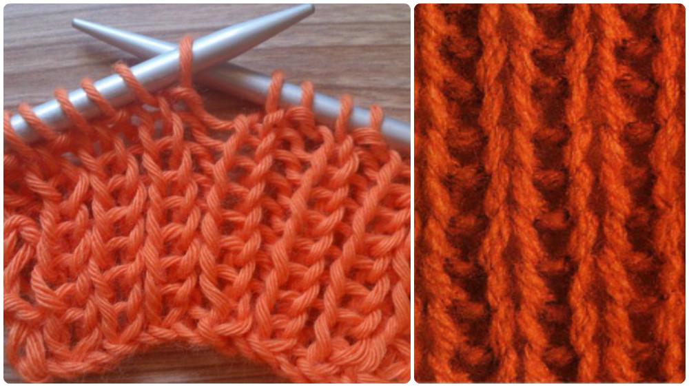 Aprende a tejer punto el stico en lana tejer a dos agujas - Puntos de agujas de lana ...
