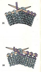 como disminuir puntos en tejido de dos agujas