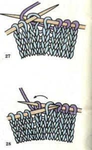como disminuir puntos en un gorro a dos agujas