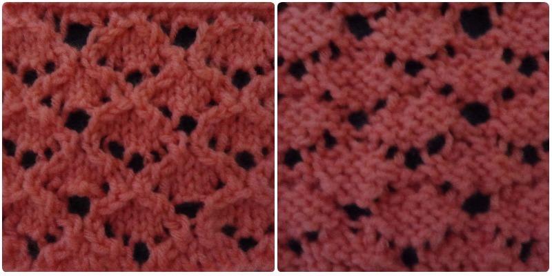 Punto fantas a calado tejidos en lana - Puntos de lana ...