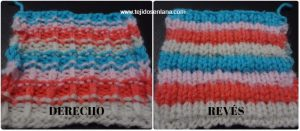 Como tejer punto multicolor