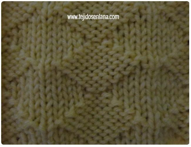 aprende a tejer rombos en punto derecho y revés