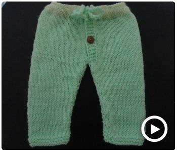 Como tejer elPantalón De Lana Para Bebé