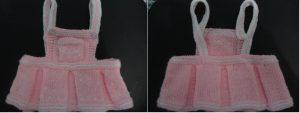 Vestido Tejido Para Bebé En Dos Agujas