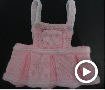 Vestido tejido para bebé de 6 a 18 meses