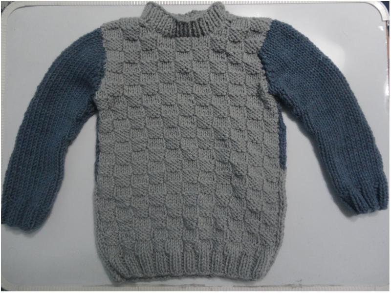 c8e2ec23a Cómo Tejer Un Suéter Para Niño De 5 Años - (A DOS AGUJAS)