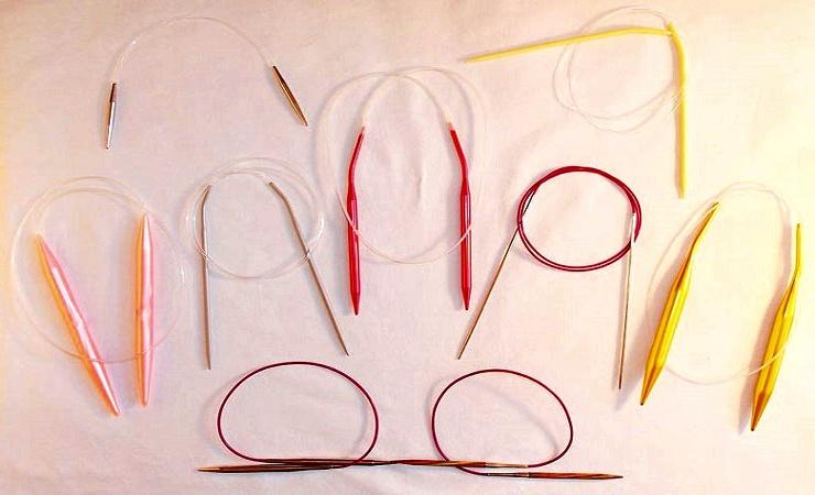 agujas circulares para tejer