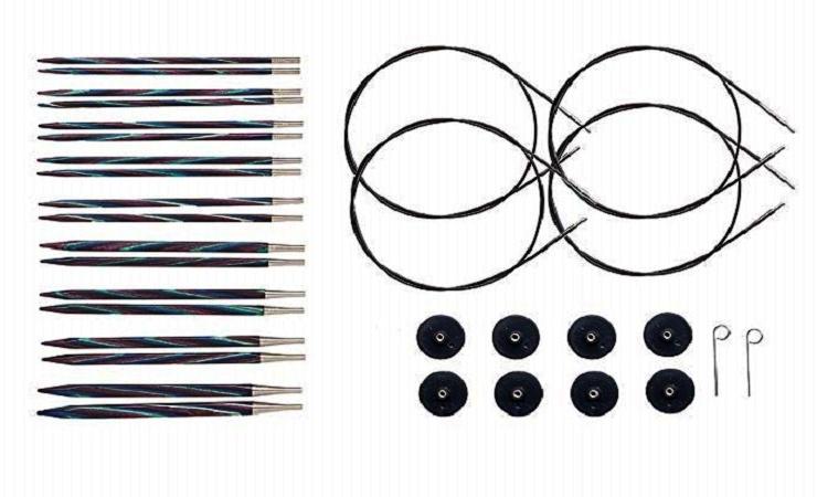 agujas circulares intercambiables para tejer
