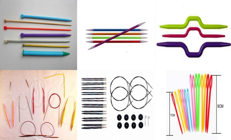 tipos de agujas para tejer crochet
